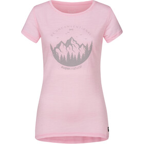 super.natural Printed T-shirt Dames, fairy tale melange/light grey unconventional